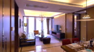 luxury sample living room interior and decorations, Real time. video