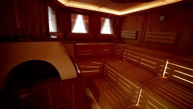 Luxury sauna in hotel five stars video