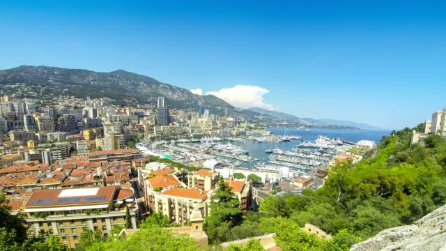 Luxury yachts in harbor of Monte Carlo, Monaco video