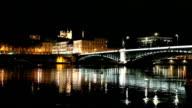 Lyon France at Night video