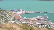 Lyttelton inner Harbour port Christchurch New Zealand video