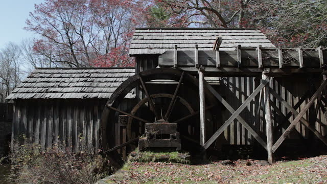 Mabry Mill watermill in the Blue Ridge Mountains video