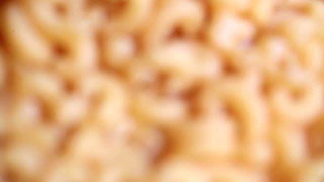 macaroni in processing video