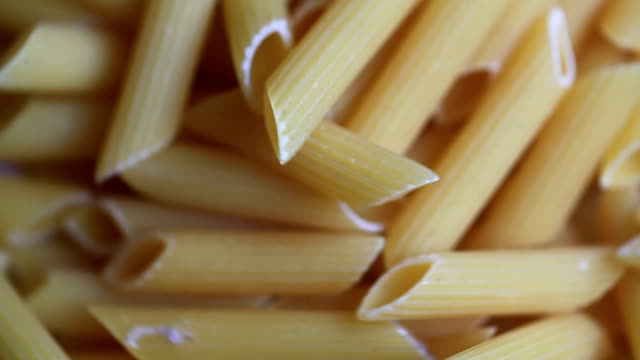 macaroni pasta dry raw food video