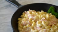 macaroni with ham and cheese video