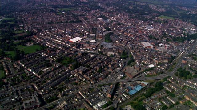 Macclesfield - Aerial View - England, Cheshire East, United Kingdom video