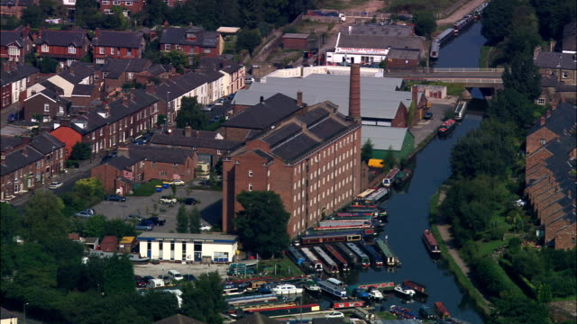Macclesfield And Original Hovis Bread Mill  - Aerial View - England, Cheshire East, United Kingdom video