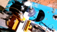 Machine cut plastic profile - window manufacture video