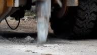 Machine dig concrete street video