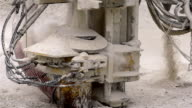 A machine drilling on ground video