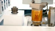 Machine equipment closeup. video