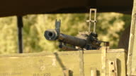 machine gun point of the ammunition boxes video