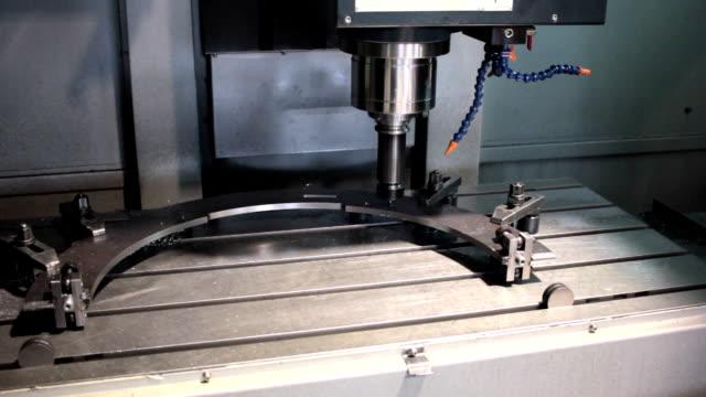 CNC  Machine milling drilling steel part video
