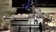 CNC machine milling some steel part video