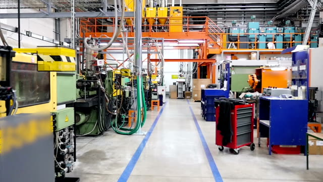 Machinery, equipment in production line video