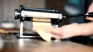 Machinery for homemade pasta video
