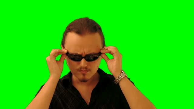 Macho in sun glasses video