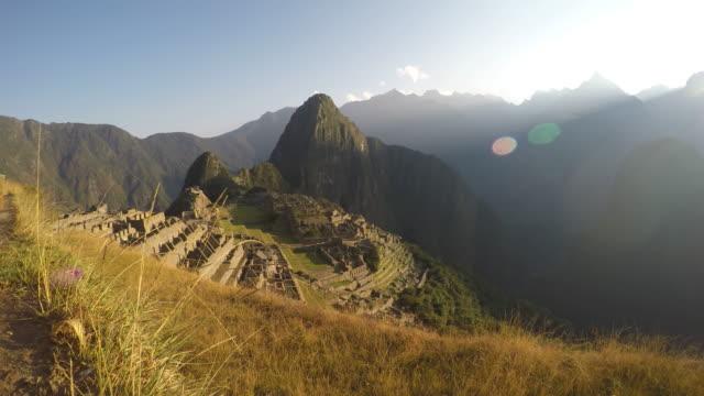 Machu Picchu at sunrise, time lapse video video