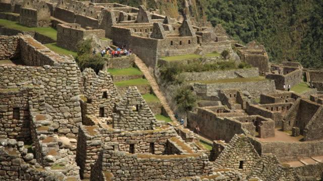 Machu Picchu buildings timelapse video
