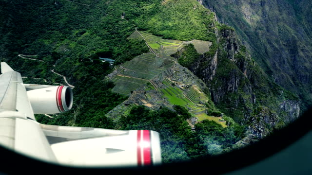 Machu Picchu - View From Airplane Window video