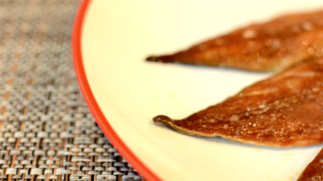 Mackerel on a plate video