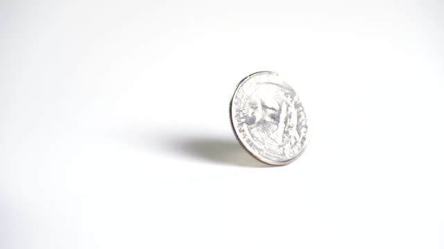 Macro Coin Spin Slow Motion video