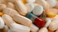 Macro Pills Spinning Around Camera video