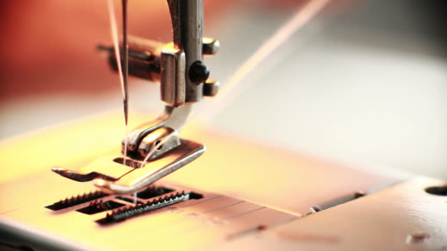 Macro sewing machine video