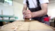 macro shot chisels for wood carpenter workshop video