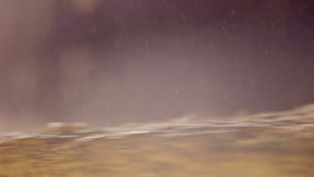 Macro shot of millstone grinding wheat video