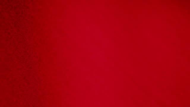 Macro shot of red fabric video