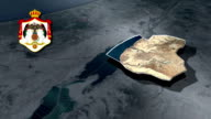 Madaba with Coat Of Arms Animation Map video