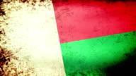 Madagascar Flag Waving, grunge look video