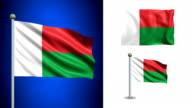 Madagascar flag - with Alpha channel, seamless loop! video
