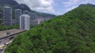 made air ride on Rocinha favela drone in the metropolitan region of Rio do Janeiro, Brazil video
