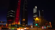 Madrid business district, realtime video