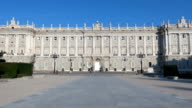 Madrid Royal Palace front video