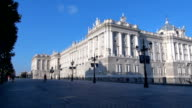 Madrid Royal Palace side video