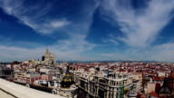 Madrid. Top view. Timelapse video