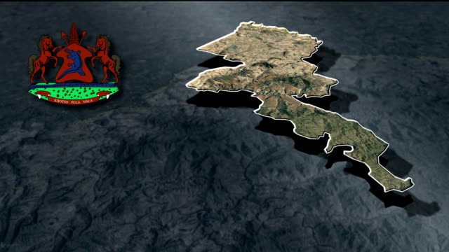 Mafeteng with Coat Of Arms Animation Map video