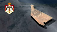 Mafraq with Coat Of Arms Animation Map video