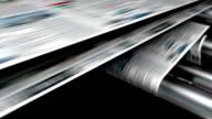 Magazine or newspaper printing loop. video