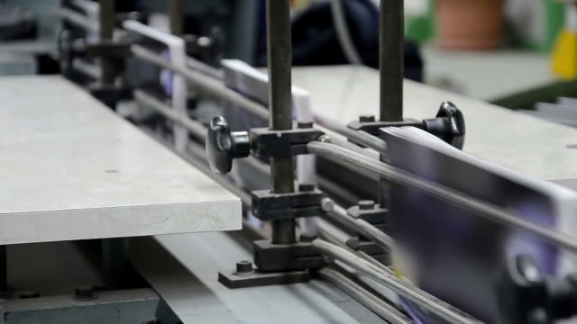 Magazine printing in a factory, book production line video