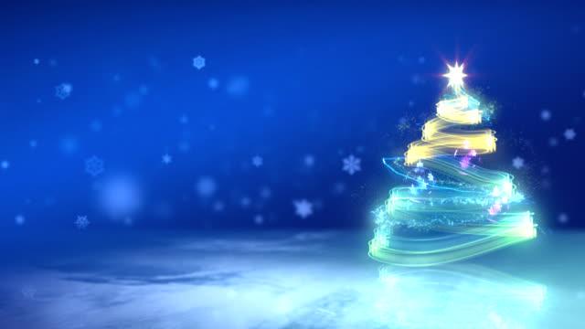 Magic Christmas Tree, winter season. video
