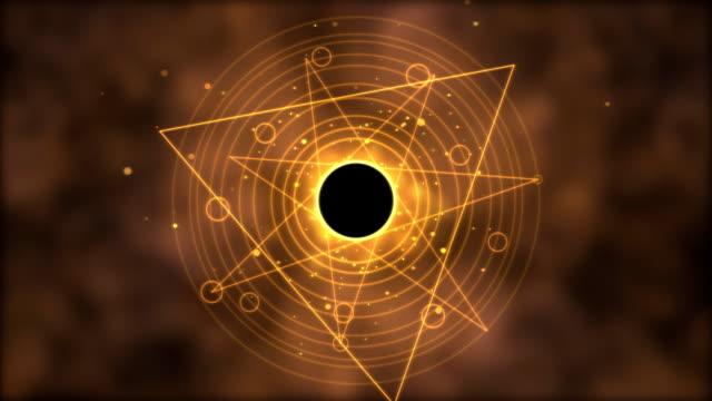 Magic circle, Geometric Background Animation - Loop Golden video