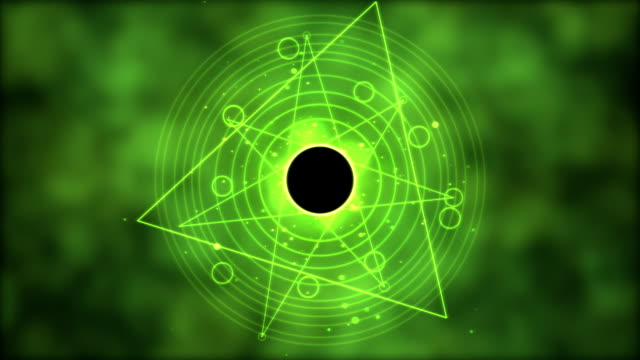 Magic circle, Geometric Background Animation - Loop Green video