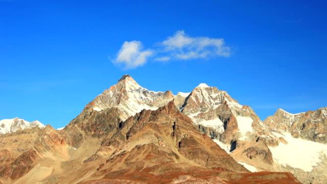 Magic cloud disappear on Matterhorn mountains video