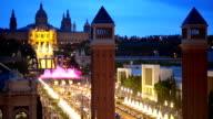 Magic Fountain in Barcelona video