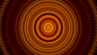 Magic kaleidoscopic circle pattern in gold colors. video