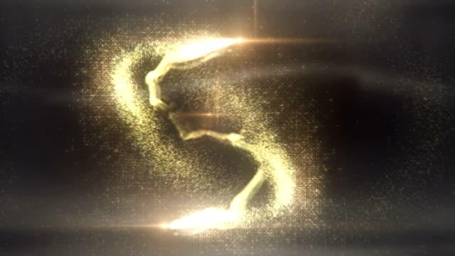 Magic Particles (gold) - Loop video
